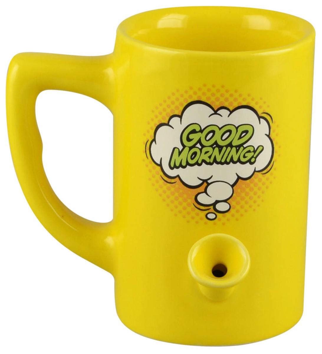 Ceramic Water Pipe Mug - 8oz / Good Morning