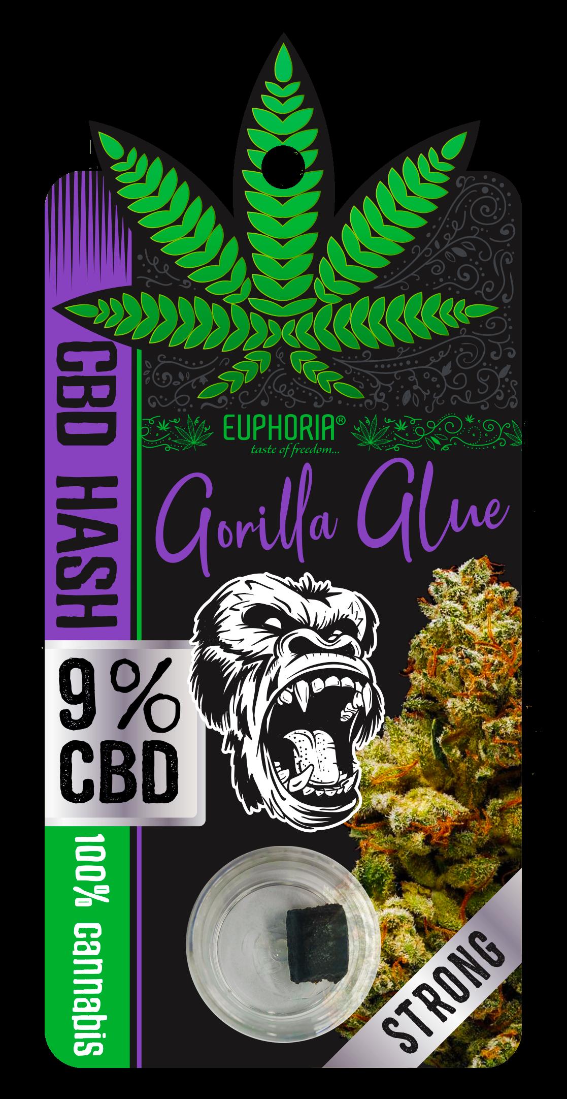 Euphoria CBD Hash Gorilla 9%