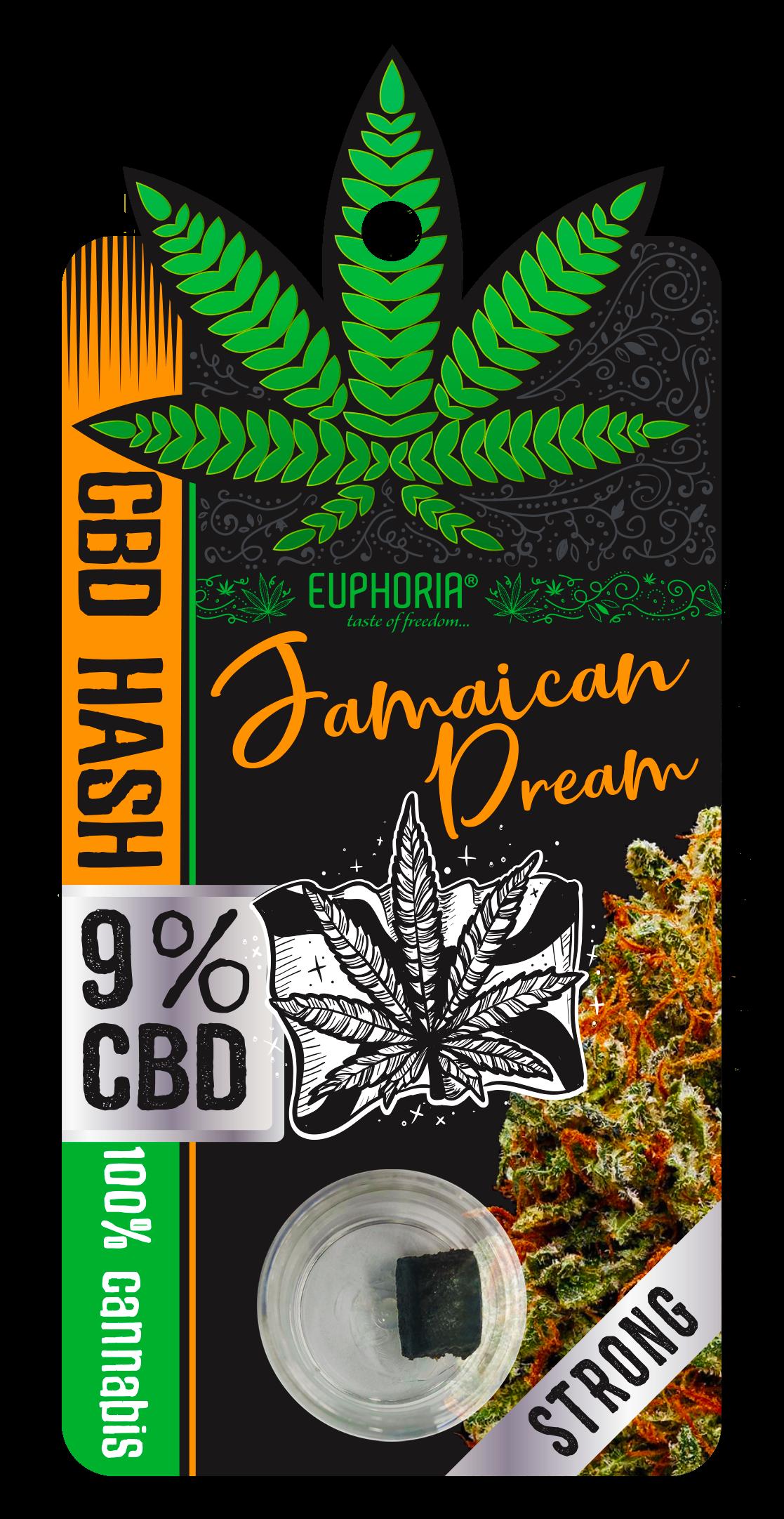 Euphoria CBD Hash Jamaican Dream 9%