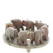 """8 Elephant Ring Soapstone 3"""" x 1"""""""