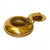 Brass pocket ashtray