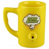 Ceramic Water Pipe Mug - 8oz / Good Morning