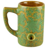 Ceramic Water Pipe Mug - 8oz / Green Glaze