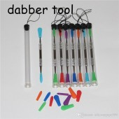 Assorted Colored silicon top Dabbing Tools