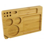 """Grindhouse Rolling Tray w/ Storage - 6""""x9"""" / Bamboo"""