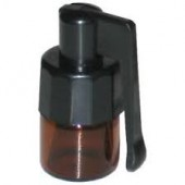 Small Brown Snuff Bottle With Spoon