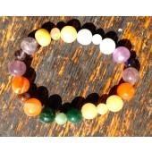 Chakra Bracelet Assorted Colours Semiprecious Gemstone