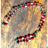 Meditation Beads Nine Large Stone Sequence Wired 44cm