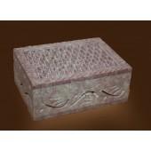 "Soap Stone Small Jewellery Box 4"" x 2"""