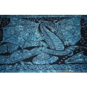 Blue Dragon  7' x 4'  Bed Spread