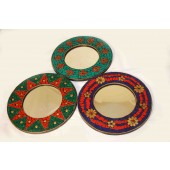 Round Priroza Mosaic Patterned Mirrors