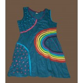 Womans Colorful Sleeveless Dress
