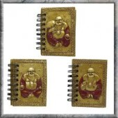 Happy Golden Buddha Notebooks S/3 5cm