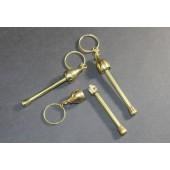 Mushroom Pipe Keyring, Brass