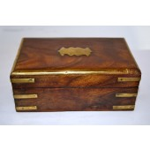 """Wood Box With Brass Trim And Plate 4x6"""""""