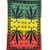Cannabis Leaf Multi Color 7' x 4'